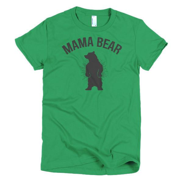Women's Mamma Mama bear mom gift T-shirt Kelly Green / 2XL / Women T-Shirt BelDisegno