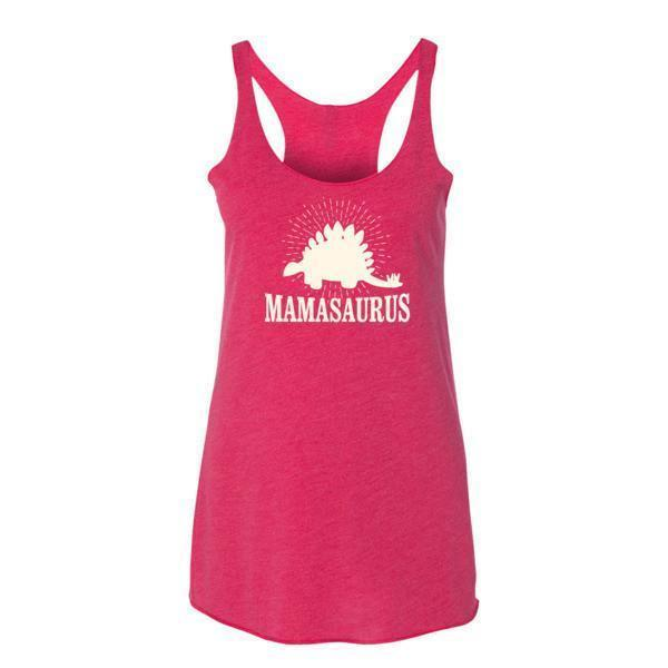Women's mammasaurus Tank Top Vintage Shocking Pink / XL Tank Top BelDisegno