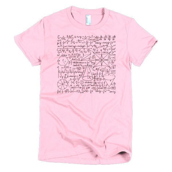 Women's Math Equation Cool Quadratic Formula Geek Nerd T-shirt Pink / 2XL / Women T-Shirt BelDisegno