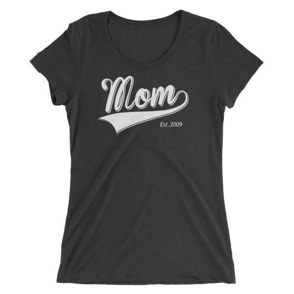 Women's Mom Est 2009 Ladies' T-shirt Charcoal Black Triblend / 2XL T-Shirt BelDisegno