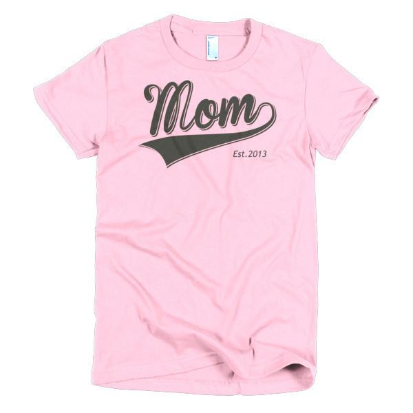 Women's Mom Est 2013 T-shirt Pink / 2XL / Women T-Shirt BelDisegno