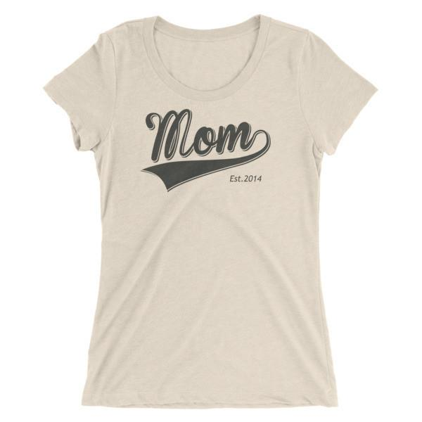 Women's Mom Est 2014 Ladies' T-shirt Oatmeal Triblend / 2XL T-Shirt BelDisegno