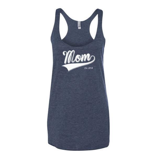 Women's Mom Est 2018 Tank Top Vintage Navy / XL Tank Top BelDisegno