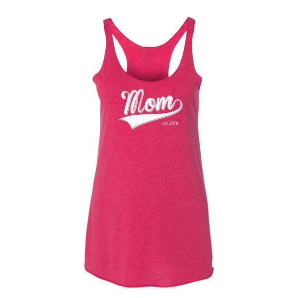 Women's Mom Est 2018 Tank Top Vintage Shocking Pink / XL Tank Top BelDisegno