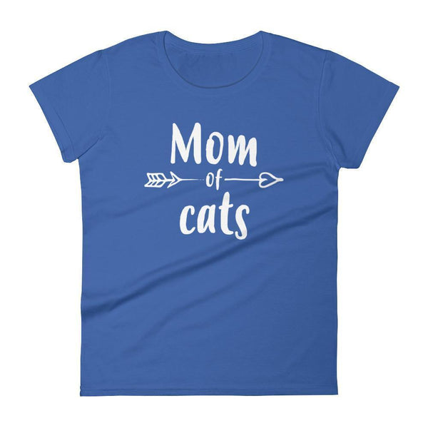 Women's Mom of Cats tshirt Gift for cat lovers owners Royal Blue / 2XL T-Shirt BelDisegno