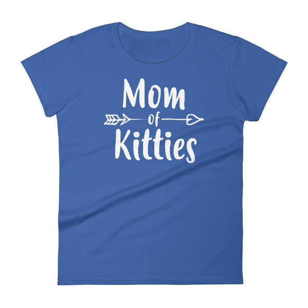 Women's Mom of Kitties tshirt Gift for cat lovers cat owners Royal Blue / 2XL T-Shirt BelDisegno