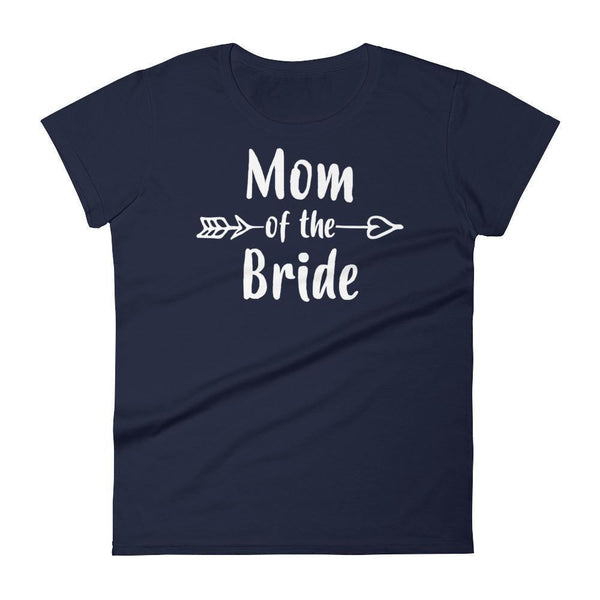 Women's Mom of the Bride tshirt Gift for mother of Bride Navy / 2XL T-Shirt BelDisegno