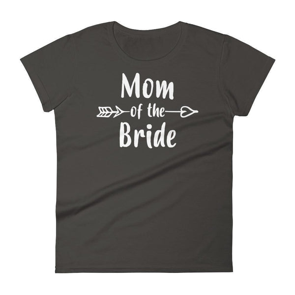 Women's Mom of the Bride tshirt Gift for mother of Bride Smoke / 2XL T-Shirt BelDisegno