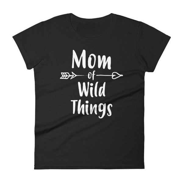 Women's Mom of Wild Things tshirt-T-Shirt-BelDisegno-Black-S-BelDisegno