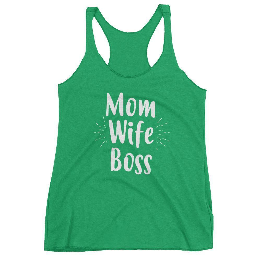 Women's Mom Wife Boss tank top Funny Mom gift for Birthday or mother's day Envy / XL Tank Top BelDisegno
