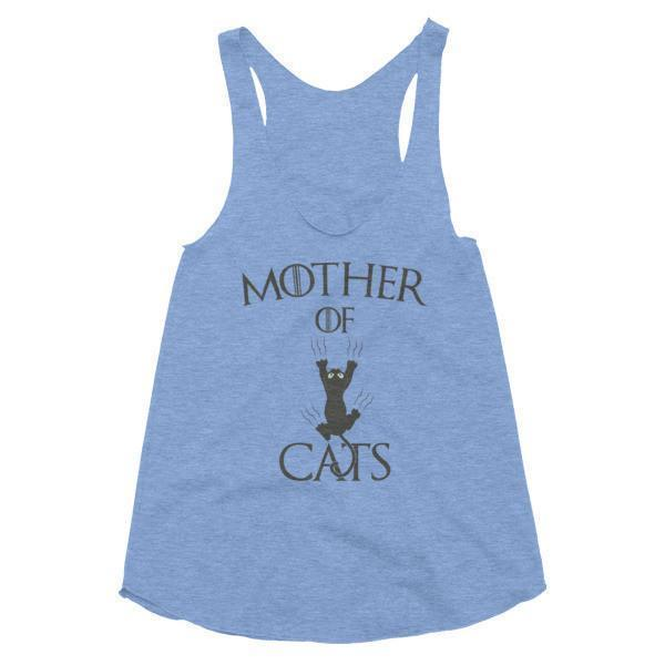 Women's Mother of Cats Tank Top Athletic Blue / L Tank Top BelDisegno