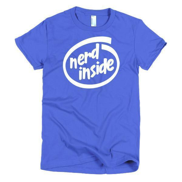 Women's Nerd Inside nerdy for your nerd friends T-shirt Royal Blue / 2XL / Women T-Shirt BelDisegno