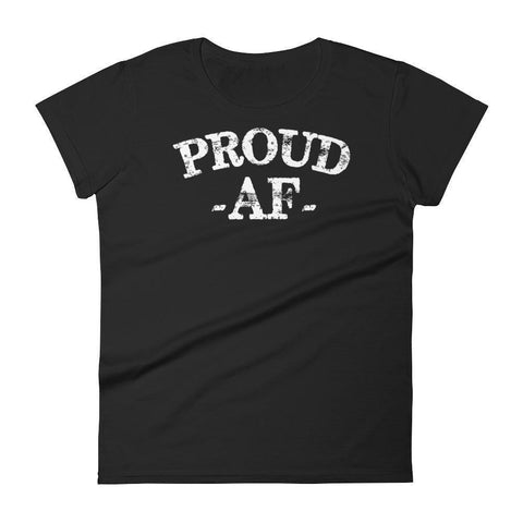Women's Proud AF Graduate tshirt Funny back to school gift-T-Shirt-MaryLaax-Black-S-BelDisegno