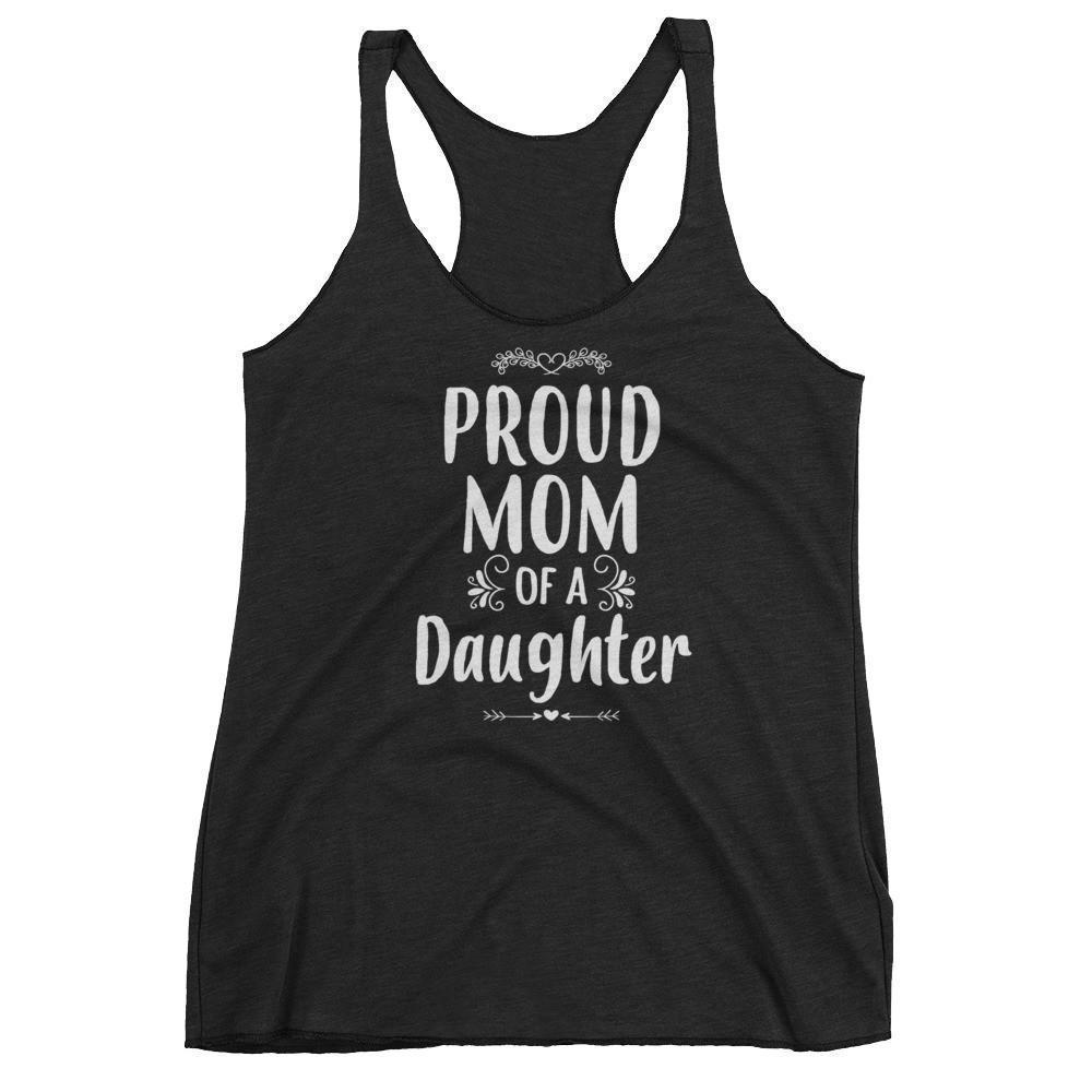 Women's Proud Mom of a Daughter tank top Funny mom gift from Daughter-Tank Top-BelDisegno-Vintage Black-XS-BelDisegno