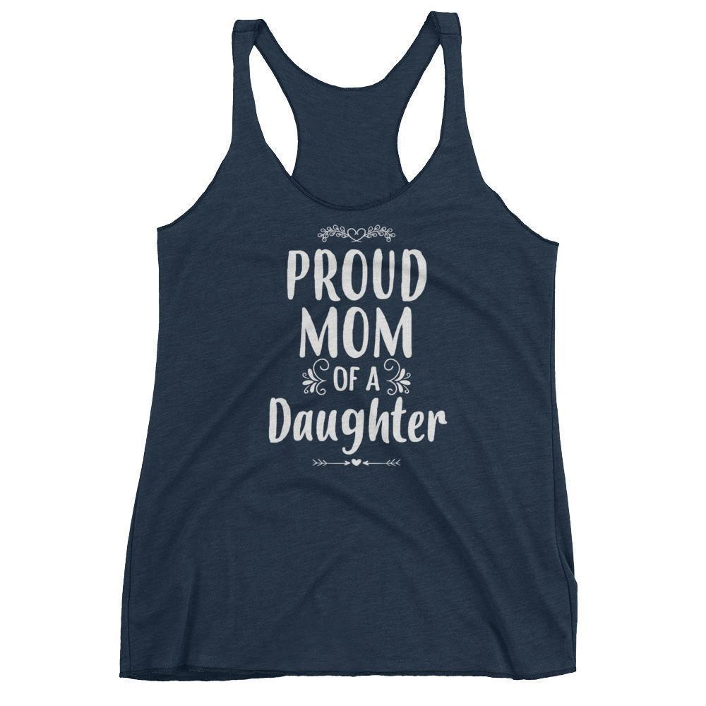 Women's Proud Mom of a Daughter tank top Funny mom gift from Daughter-Tank Top-BelDisegno-Vintage Navy-XS-BelDisegno