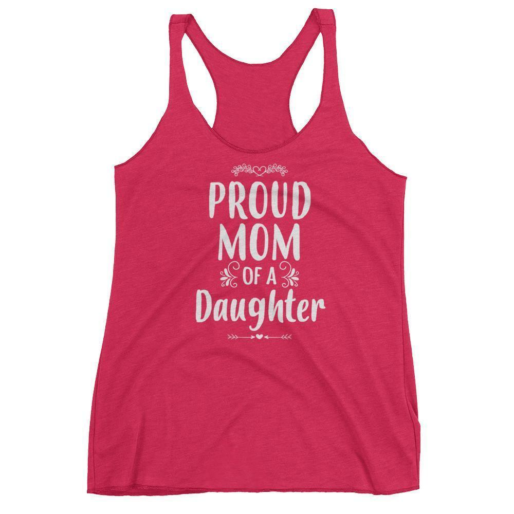 Women's Proud Mom of a Daughter tank top Funny mom gift from Daughter-Tank Top-BelDisegno-Vintage Shocking Pink-XS-BelDisegno
