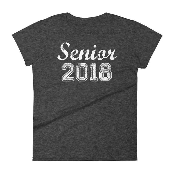 Women's Senior 2018 tshirt Funny back to school gift-T-Shirt-MaryLaax-Heather Dark Grey-S-BelDisegno