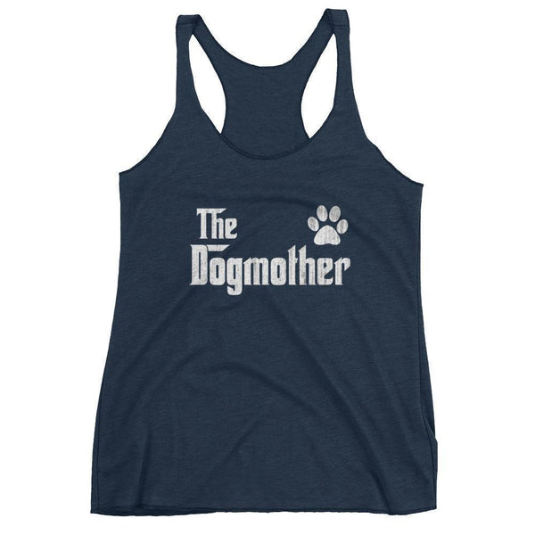 Women's The DogMother tank top Gift for dog lovers Mom-Tank Top-BelDisegno-Vintage Navy-XS-BelDisegno