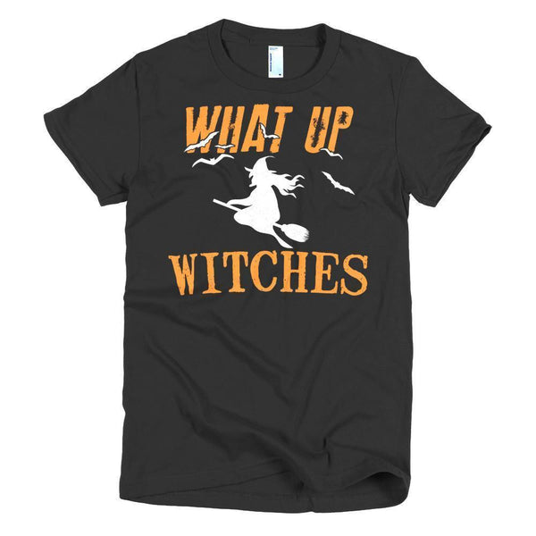 Women's What Up My Witches Funny TShirt-T-Shirt-BelDisegno-Black-S-Women-BelDisegno