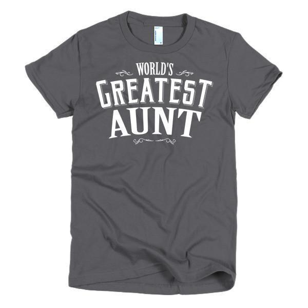 Women's World's Greatest Aunt new auntie gift TShirt-T-Shirt-BelDisegno-Asphalt-S-Women-BelDisegno