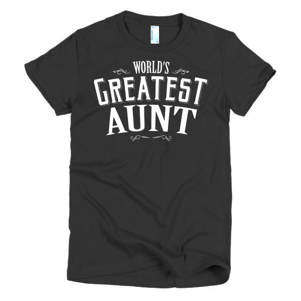 Women's World's Greatest Aunt new auntie gift TShirt-T-Shirt-BelDisegno-Black-S-Women-BelDisegno