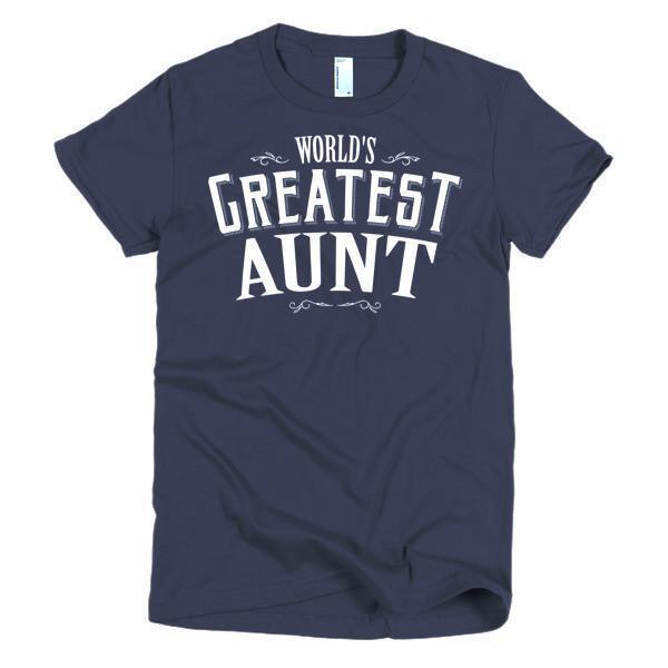 Women's World's Greatest Aunt new auntie gift TShirt-T-Shirt-BelDisegno-Navy-S-Women-BelDisegno