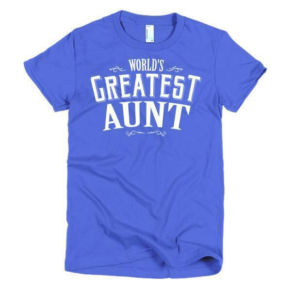 Women's World's Greatest Aunt new auntie gift TShirt-T-Shirt-BelDisegno-Royal Blue-S-Women-BelDisegno