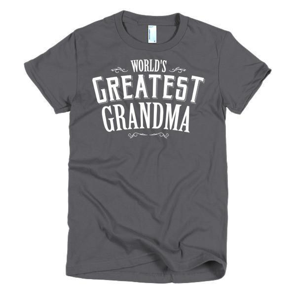 Women's World's Greatest Grandma mother's gift TShirt-T-Shirt-BelDisegno-Asphalt-S-Women-BelDisegno