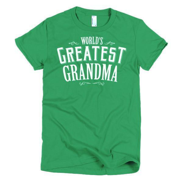 Women's World's Greatest Grandma mother's gift TShirt-T-Shirt-BelDisegno-Kelly Green-S-Women-BelDisegno