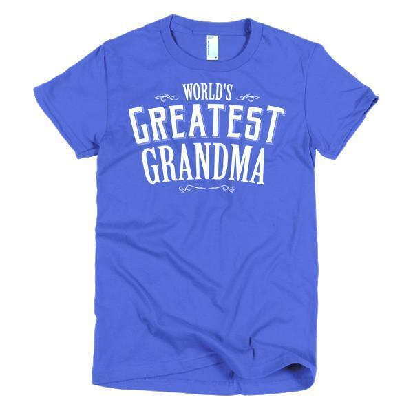 Women's World's Greatest Grandma mother's gift TShirt-T-Shirt-BelDisegno-Royal Blue-S-Women-BelDisegno