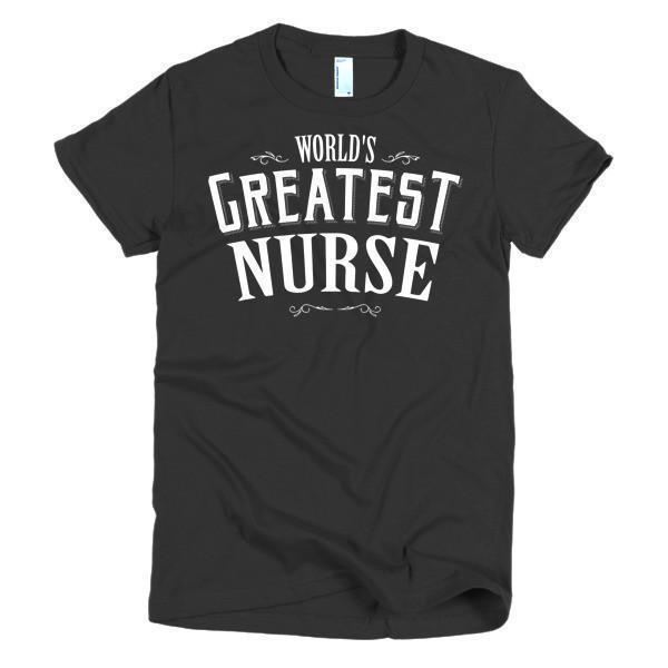 Women's World's Greatest Nurse TShirt-T-Shirt-BelDisegno-Black-S-Women-BelDisegno
