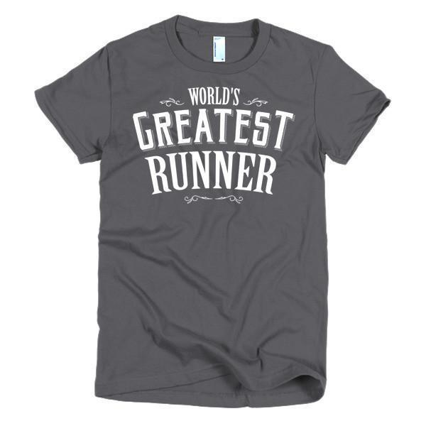 Women's World's Greatest Runner TShirt-T-Shirt-BelDisegno-Asphalt-S-Women-BelDisegno