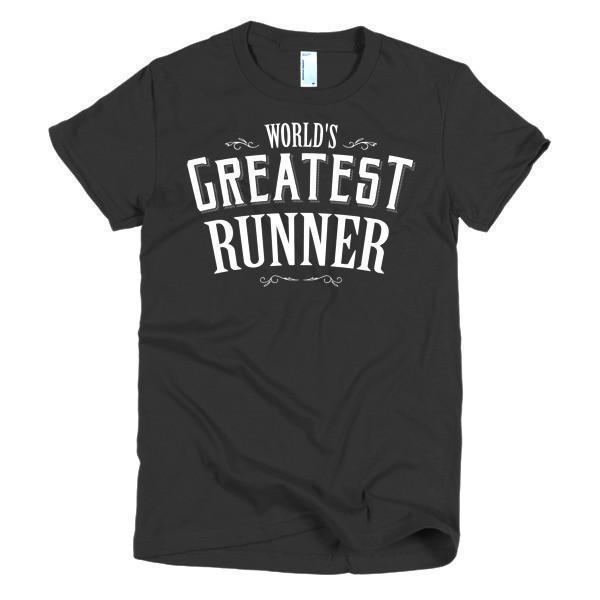 Women's World's Greatest Runner TShirt-T-Shirt-BelDisegno-Black-S-Women-BelDisegno