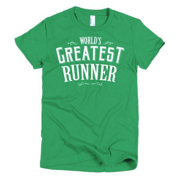 Women's World's Greatest Runner TShirt-T-Shirt-BelDisegno-Kelly Green-S-Women-BelDisegno