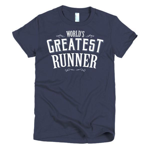 Women's World's Greatest Runner TShirt-T-Shirt-BelDisegno-Navy-S-Women-BelDisegno