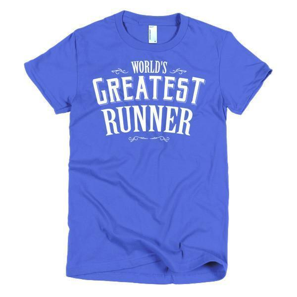 Women's World's Greatest Runner TShirt-T-Shirt-BelDisegno-Royal Blue-S-Women-BelDisegno