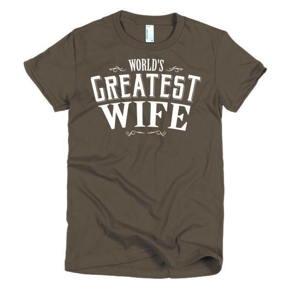 Women's World's Greatest Wife gift TShirt-T-Shirt-BelDisegno-Brown-S-Women-BelDisegno