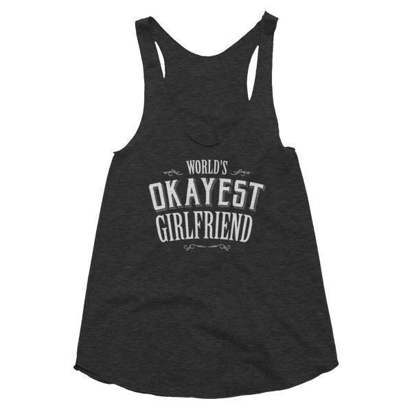 Women's World's Okayest Girlfriend Tank Top-Tank Top-BelDisegno-Tri Black-XS-BelDisegno