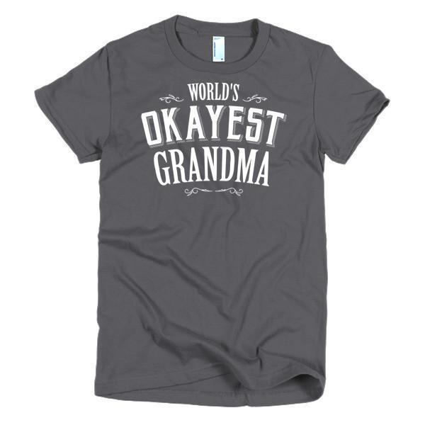 Women's World's Okayest Grandma mother's day gift TShirt-T-Shirt-BelDisegno-Asphalt-S-Women-BelDisegno