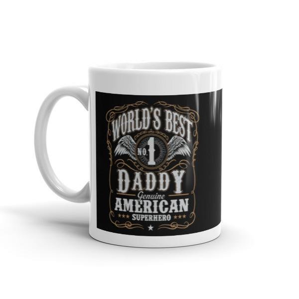 World's Best No 1 Daddy American Superhero Coffee Mug-Mug-BelDisegno-BelDisegno
