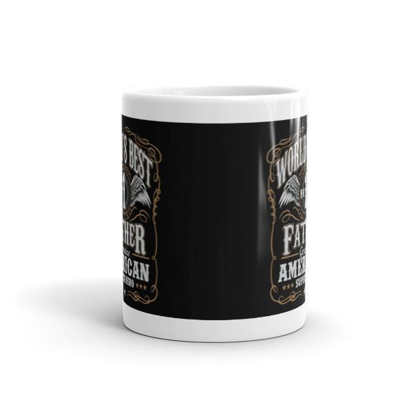World's Best No 1 Father American Superhero Coffee Mug-Mug-BelDisegno-BelDisegno