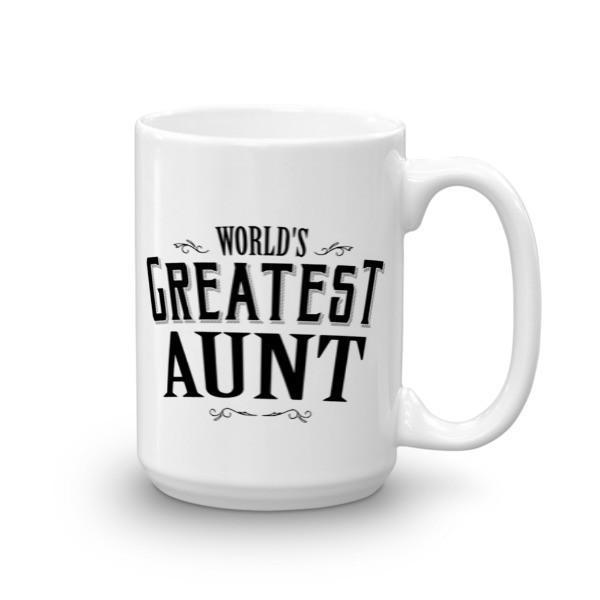 World's Greatest Aunt Coffee Mug-Mug-BelDisegno-15oz-BelDisegno