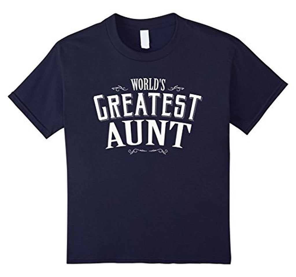 World's Greatest Aunt for aunt aunty TShirt-T-Shirt-BelDisegno-Navy-S-BelDisegno