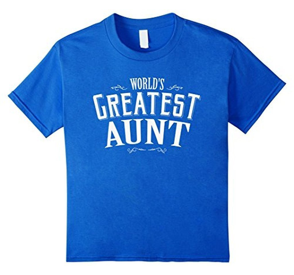 World's Greatest Aunt for aunt aunty TShirt-T-Shirt-BelDisegno-Royal Blue-S-BelDisegno