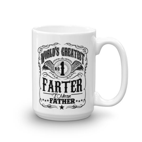 World's Greatest Farter, I mean father dad gift Coffee Mug-Mug-BelDisegno-15oz-BelDisegno