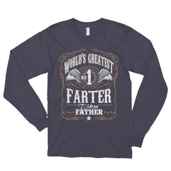 World's Greatest Farter, I mean father Funny TShirt-T-Shirt-BelDisegno-Asphalt-S-BelDisegno