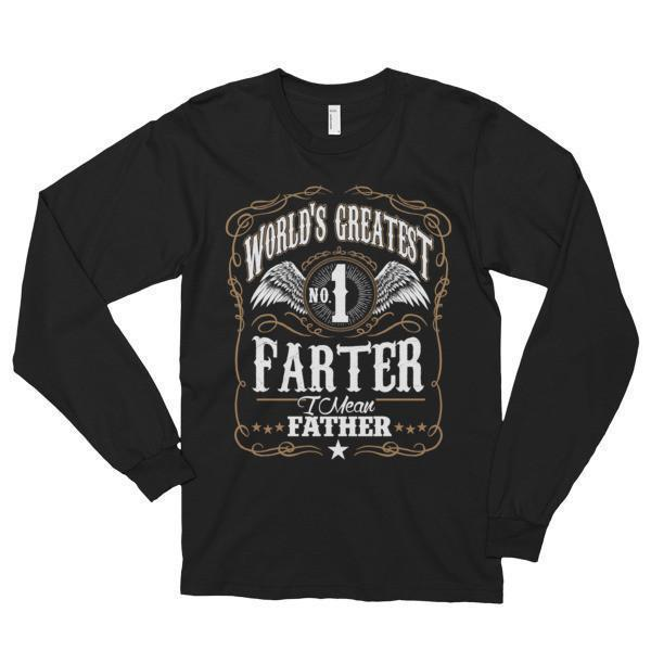 World's Greatest Farter, I mean father Funny TShirt-T-Shirt-BelDisegno-Black-S-BelDisegno
