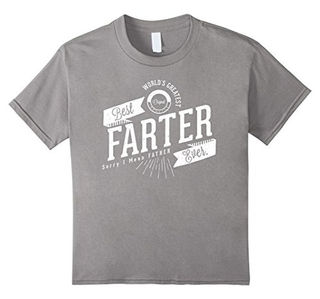 Worlds Greatest Farter, I Mean Father Funny TShirt-T-Shirt-BelDisegno-Heather Grey-S-BelDisegno