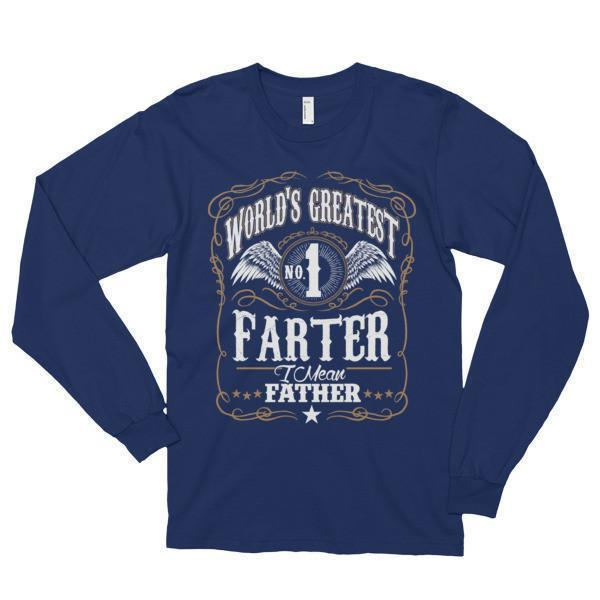 World's Greatest Farter, I mean father Funny TShirt-T-Shirt-BelDisegno-Navy-S-BelDisegno
