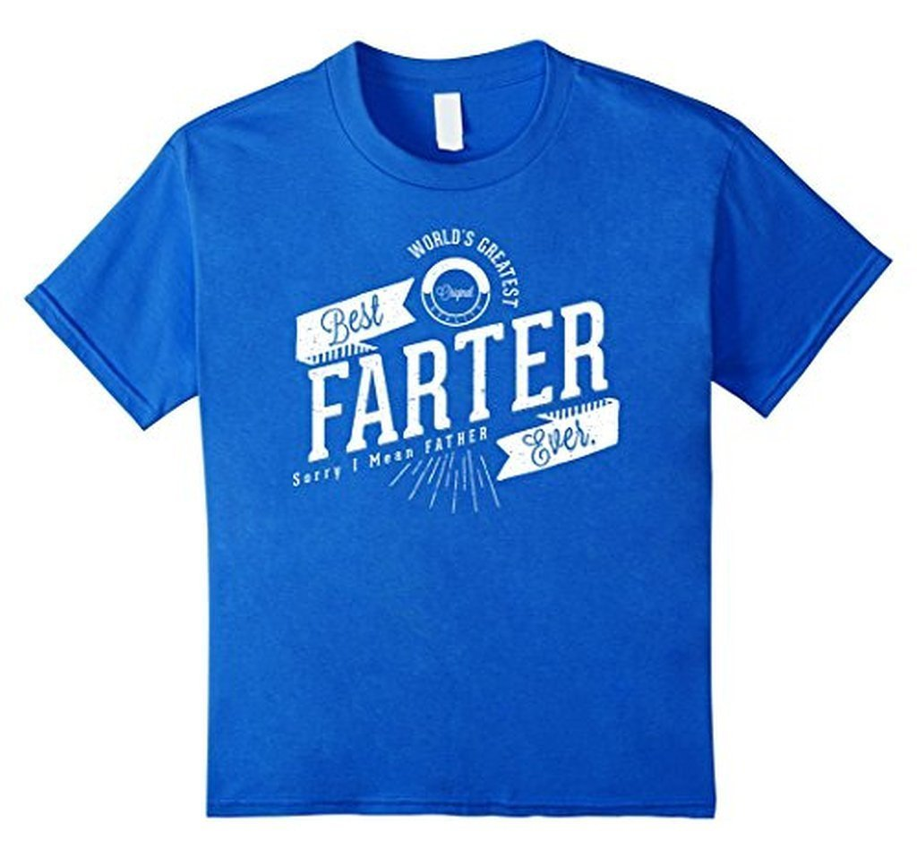 Worlds Greatest Farter, I Mean Father Funny TShirt-T-Shirt-BelDisegno-Royal Blue-S-BelDisegno